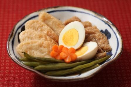 笹かまといんげんの煮物