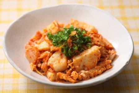 笹かまのスタミナキムチ炒め